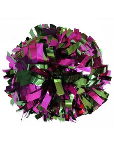 Помпон металлизированный фиолетовый с зеленым, фото 1