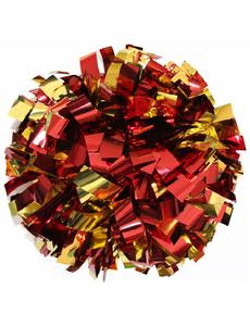 Помпон  одиночный красный с золотом, фото 1