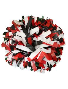 Помпон пластиковый черный-белый-красный, фото 1
