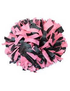 Помпон пластиковый черный с розовым, фото 1