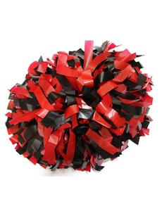 Помпон пластиковый красный с черным, фото 1