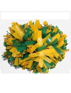 Помпон пластиковый желтый с зеленым, фото 1