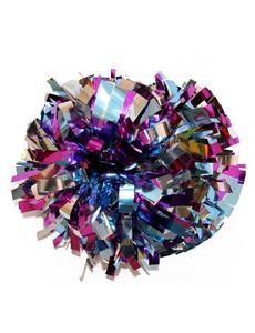 Помпон премиум класса фиолетовый-ультрамарин-серебро, фото 1