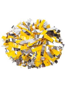 Помпон премиум класса желтый с серебром, фото 1