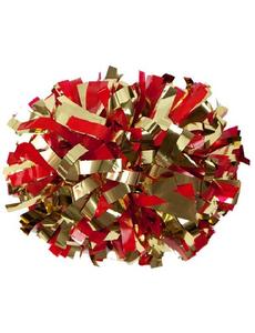 Помпон премиум класса красный с золотом, фото 1