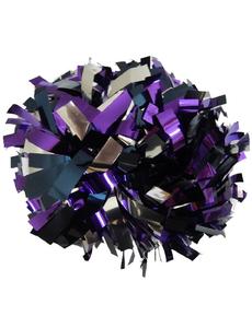 Помпон премиум класса фиолетовый, темно-синий, серебро, фото 1