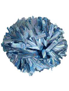 Помпон премиум класса небесно-голубая голография, фото 1