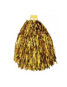 Помпон эконом класса №5 золотой металлик, фото 1