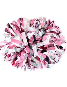 Помпон премиум класса нежно-розовый с серебряной голографией, фото 1