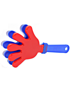 Ладошка-трещотка синяя с красным, фото 1