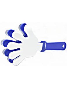 Ладошка-трещотка белая-синяя-белая, фото 1