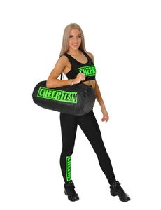 """Лосины """"Cheer team"""" (черные, зеленый принт), фото 5"""