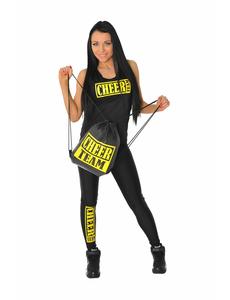 Рюкзак ''Cheer team'' (черный, желтый принт), фото 4