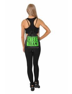Рюкзак ''Cheer team'' (черный, зеленый принт), фото 2