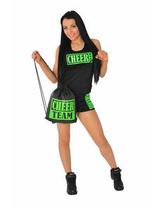Рюкзак ''Cheer team'' (черный, зеленый принт), фото 3