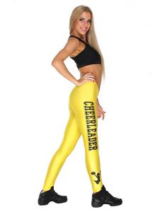 """Лосины """"Cheerleader"""" (желтые, черный принт), фото 2"""