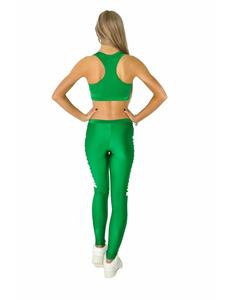 """Лосины """"Cheerleading"""" (зеленые, белый принт), фото 3"""