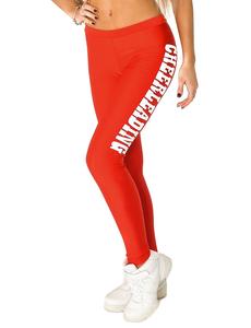 """Лосины """"Cheerleading"""" (красные, белый принт), фото 1"""