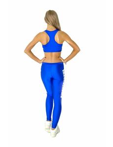 """Лосины """"Cheerleading"""" (синие, белый принт), фото 3"""
