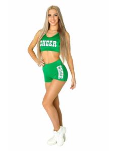 """Топ борцовка """"Cheer"""" (зеленый, белый принт), фото 5"""