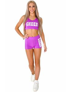 """Топ борцовка """"Cheer"""" (фиолетовый, белый принт), фото 2"""