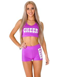 """Топ борцовка """"Cheer"""" (фиолетовый, белый принт), фото 1"""