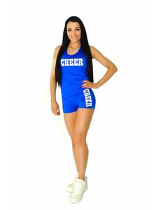 """Шорты для танцев на широкой резинке """"Cheer"""" (синие, белый принт), фото 4"""