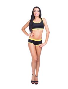 Топ модель №1 (черный с желтой отделкой) F076, фото 2