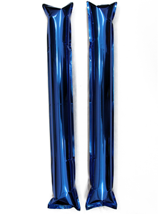 Палки-стучалки метализированные синие, фото 1