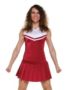Топ черлидера, модель №1 (бордово-белый), фото 1