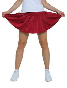Юбка в складку (бордовая), фото 1