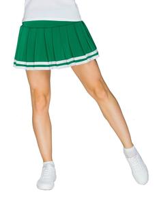 Юбка в складку с отделкой (зеленая), фото 1