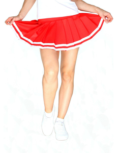Юбка в складку с отделкой (красная), фото 1