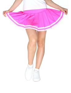Юбка в складку с отделкой (розовая), фото 1