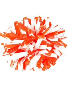 Помпон виниловый оранжевый с белым, фото 1