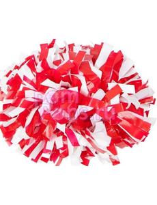 Помпон виниловый красный с белым, фото 1