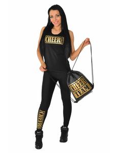 Рюкзак ''Cheer team'' (черный, золотой принт), фото 2