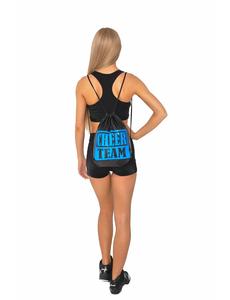 Рюкзак ''Cheer team'' (черный, синий принт), фото 3