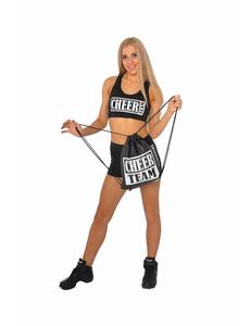 """Шорты для танцев на широкой резинке """"Cheer team"""" (черные, белый принт), фото 5"""