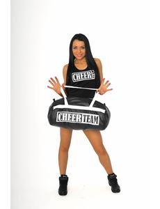 """Шорты для танцев на широкой резинке """"Cheer team"""" (черные, белый принт), фото 6"""