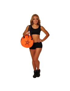 """Сумка """"Cheerleader"""" (оранжевая, черный принт), фото 3"""