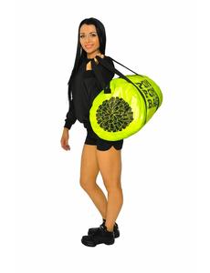 """Сумка """"Pom pom bag"""" (лимонная, черный принт), фото 3"""
