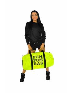 """Сумка """"Pom pom bag"""" (лимонная, черный принт), фото 5"""