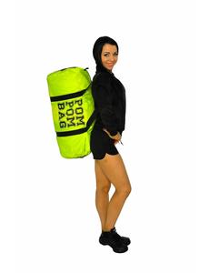 """Сумка """"Pom pom bag"""" (лимонная, черный принт), фото 6"""