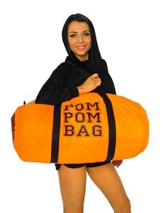 """Сумка """"Pom pom bag"""" (оранжевая, черный принт), фото 1"""