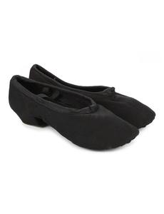 Балетки для танцев на каблуке (Х\Б) (размеры, 35-38) черные