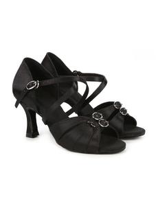 Туфли с каблуком 7 см (размеры 36-42) черные С100А