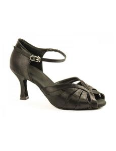 Туфли с каблуком 7 см (размеры 35-42) черные С117А