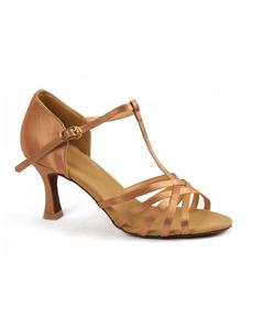 Туфли с каблуком 7 см (размеры 34-42) бежевые 5523А
