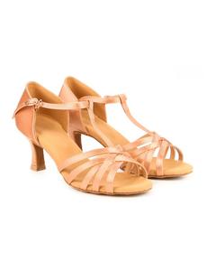 Туфли с каблуком 5 см (размеры 36-42) бежевые 5523С